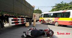 xe đầu kéo tông xe máy, bé gái 14 tuổi bị cán qua người nguy kịch
