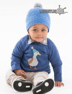 Вязаная спицами простая шапка ребенку до года