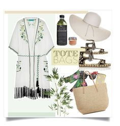 """Beach totes!"" by galdin on Polyvore featuring Matthew Williamson, Anna-Karin Karlsson, Nine West, Target, Pier 1 Imports, River Island, AMBRE, Dolce&Gabbana, Summer and lookbook"
