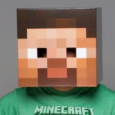 Make Your Own Minecraft Steve Head - Made by A Princess