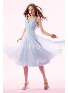 Sexy A-line V-neck Rouched Waistline Knee-length Hot Sale Bridesmaid Dresses  Again in any colour