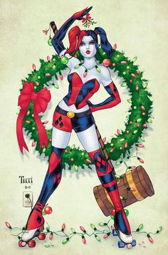 Image result for harley quinn christmas