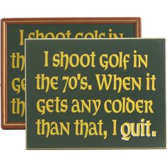 I Shoot Golf in the 70s... Wood Sign!