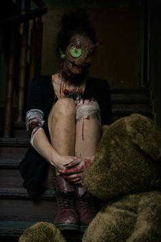 """Voodoo Doll"" — Photographer: Sit Zone Art Makeup: Florentyna Nabzdyk Model: Barbara Sieradzka"