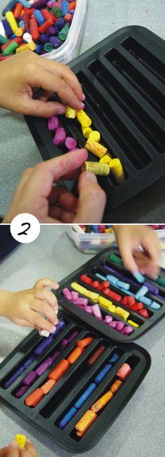 Reciclando ceras / Recycling crayons