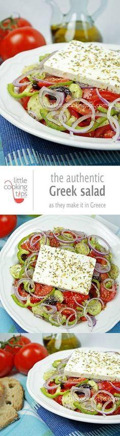 The authentic Greek Salad (Horiatiki)