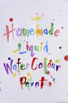 Vibrant Homemade Liquid Watercolor Paint for Kids from Happy Hooligans