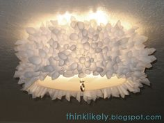 DIY: Parchment Paper Lamp shade  A fun project for when you want to sit around, talk, and craft with friends or family.