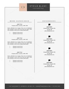 Free Cover Letter For Resume Modern Resume Template  Cv Template For Pages Word Professional .