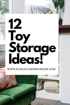 Looking for ways to organize toys and kid stuff? Here are 12 organization ideas to help you get your child's things neat and tidy! Tips and tricks to help! Playroom Organization, Home Organization Hacks, Organizing Your Home, Household Organization, Organizing Ideas, Toy Room Storage, Small Space Storage, Kids Bedroom, Bedroom Ideas