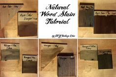 DIY Natural Wood Stain (apple cider vinegar, white vinegar, tea, coffee)