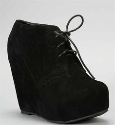 ohhh how I love these so much <33 Black Wedge Bootie #windsorstore #taralynn