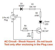 Three Pin Socket Tester. Home Utility Circuit.19 – Mohan's electronics blog