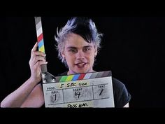 The most adorable thing. Ash and cal were saying basically the same things and then Luke's like we hated each other for like a year. 5 words: cal and ash: immobile. Nerd. Kind of funny. Luke: hair. I just. I'm done with this band