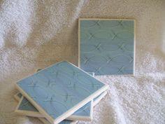 Christian Fish symbol ceramic tile coasters by charlotteshelley, $12.00