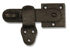 This beautiful and simple flip latch is a nice way to latch a gate. This is a single-sided gate latch, operable from one side.