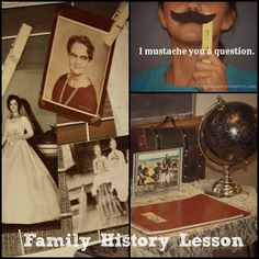 Family history lesson for kids. Primary activity day or FHE perfect.