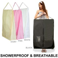 Wedding dress travel cover - shower proof and breathable - 182cm