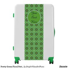 Shop Pretty Green Floral Pattern Luggage created by BrightVibesArtPhoto. Green Gifts, Pretty Green, Green Colors, Stationery, Floral, Pattern, Design, Home Decor, Decoration Home