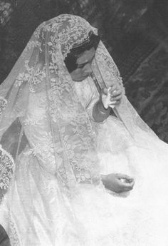 Queen Sofia of Spain on her wedding day