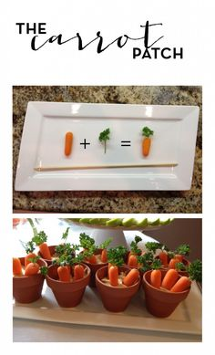 Cute way to serve a healthy party snack!