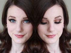 Glamorous smokey neutrals featuring the Too Faced Chocolate Bar Palette