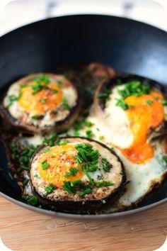 Stuffed with Egg Giant Mushrooms