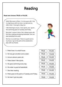 Reading comprehension online exercise for Grade 4