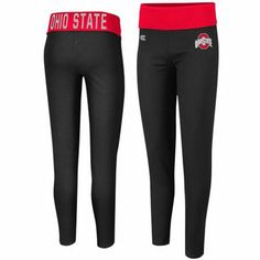 Ohio State Buckeyes Ladies Pivot II Yoga Leggings - Black/Scarlet
