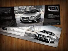 This is part of the audi's Brochure in México Ci Design, Layout Design, Graphic Design, Editorial Layout, Editorial Design, Source Of Inspiration, Volkswagen, Audi, Catalog