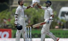 India on reply to Sri Lanka's first innings score of 183, were all out for 375 just before stumps on the second day.