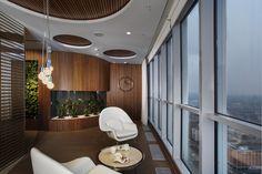 Office | Interior design and furnishings inspires and encourages meditative, quiet moments to break up demanding work tasks. Sberbank Russia, St Peterburg Offices - Elena Krylova Design Studio