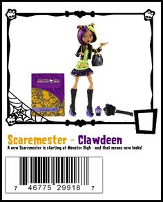 Clawdeen Wolf Scaremester Wave 1 Monster High Doll ($23 at Shop.Mattel.com. I bought her on sale for $12.50.)