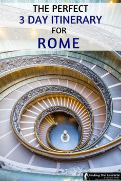 The perfect 3 Day itinerary for Rome. Everything from what all the highlights you need to see, to when to visit, where to stay, and tips on saving money in Rome!