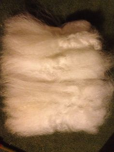 Combed doll hair long Ready to ship white Santa by HidowFiberFarm