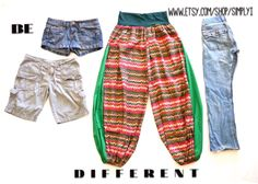 Be different. Handmade harem pants by SimplyI on etsy