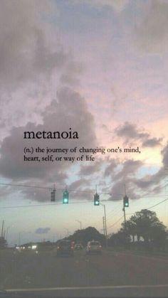 Journey to metanoia