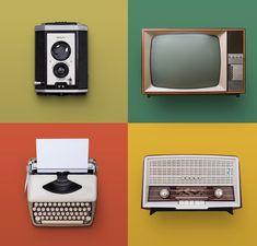 Photo about Retro or vintage set of electronics on color background. Image of media, school, sound - 101079825 Box Tv, Graphic Design Tutorials, Vintage Colors, Electronics, Phone, Retro Background, Cheat Sheets, Consumer Electronics, Economics