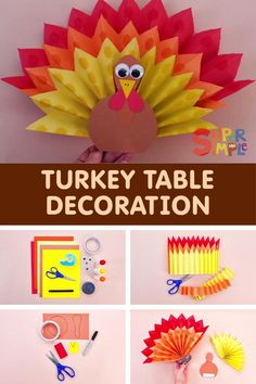 Gobble, gobble! It's that special time of year for giving thanks and preparing some festive food. Get the little ones in the spirit with this fun turkey craft. It is a perfect decoration for the mantle, or the Thanksgiving table itself! K Crafts, Preschool Crafts, Fall Crafts, Paper Crafts, Craft Projects For Kids, Easy Crafts For Kids, Craft Activities For Kids, Thanksgiving Crafts For Kids, Thanksgiving Table