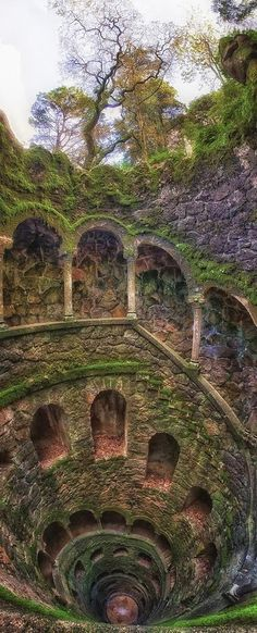 The Iniciatic Well, Entering the Path of Knowledge - Regaleira Estate, Sintra, Portugal