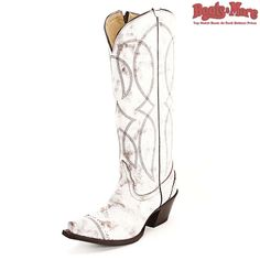 Tony Lama Ladies Antique White Geneva (Limited Stock) [VF3035] - $189.99 : Boots & More: Top Notch Boots at Rock Bottom Prices, We Price Match