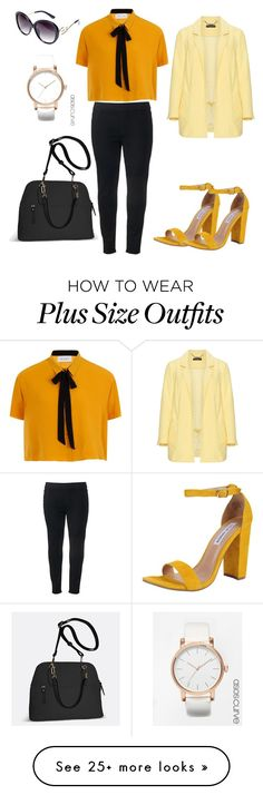 """""""Plus size work outfit"""" by lailabalic on Polyvore featuring SONOMA Goods for Life, Elvi, Avenue, ASOS Curve, Steve Madden and Manon Baptiste"""