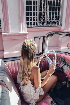 pink classic car in Havana,CUBA Varadero, Cuba Pictures, Ohh Couture, Leonie Hanne, Beach Vibes, Cuba Travel, Havana Cuba, Travel Goals, Travel Plan