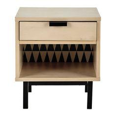 Table de chevet avec tiroir L 43 cm