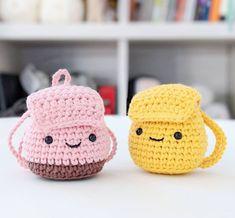 Mesmerizing Crochet an Amigurumi Rabbit Ideas. Lovely Crochet an Amigurumi Rabbit Ideas. Cute Crochet, Crochet Dolls, Crochet Bags, Easy Amigurumi Pattern, Backpack Decoration, Backpack Pattern, Crochet Backpack, Crochet Keychain, Paintbox Yarn