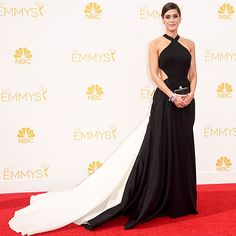 Lizzy Caplan in Donna Karen Atalier  at the 2014 Emmys