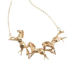 Galloping Horse Necklace | By Emily | Wolf & Badger