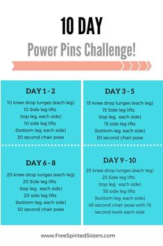 We have another 10 day fitness challenge for you! This 10 day workout plan will start adding some strength and tone to your legs and get you on the way to powerful pins! Weight Lifting, Weight Loss Tips, 10 Day Workouts, Weight Loss Motivation Quotes, Leg Lifts, Workout Challenge, 10 Days, Strength Training, Fitness Inspiration