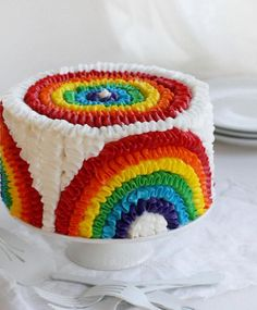 So you guys know that I love Rainbow Cake, but did you know that there's a whole world of other rainbow baking inspiration out there? Since it's the second birthday of my rainbow … Rainbow Baking, Rainbow Food, Taste The Rainbow, Rainbow Cakes, Rainbow Frosting, Rainbow Magic, Rainbow Theme, Cake Cookies, Cookies Et Biscuits