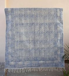 Beautiful block-printed dhurrie rug handcrafted in Jaipur. Rug is handmade (Handblock printed) Fabric : 100% cotton, Size - 5 x 8 ft (60x96 inches / 150cm x 240cm) Wash Care : Machine washable / dry clean (do not machine dry) Weight : 4.500 Kgs (Approx) The natural dye is
